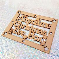 """Personalised """"Christmas Eve Box"""" Wooden Topper, Craft Sign, Plaque. Xmas Gift"""