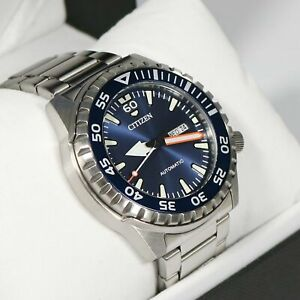 Citizen Stainless Steel Automatic Marine Sports Men's Watch NH8389-88L