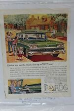 """Vtg Automobile Advertisement 11 X 14"""" 1959 SelectAir Conditioned Ford   (A86)"""