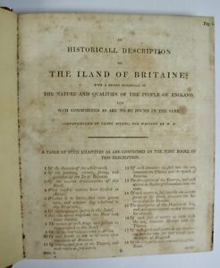 Wm. Harrison: A Description Of England (Holinshed's Chronicles) 1800? Some Loss