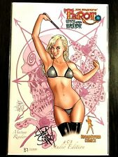 TAROT WITCH OF THE BLACK ROSE #59 Broadsword Signed by Jim Balent NM+ RARE