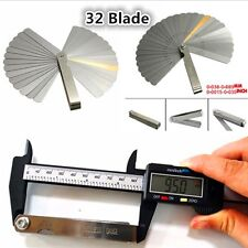 Metric Imperial 32 Blade Feeler Gauge Dual Reading Combination Measure Tool 1Pcs