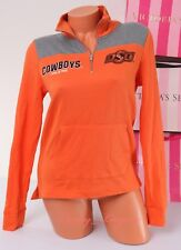 PINK VS Collegiate Collection Cowboys OSU 1/4 zip Jacket Size XS X-Small Orange