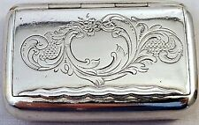 Rare Antique 1901 SWEDISH STERLING SILVER SNUFF BOX K. Johansson 35gr NR