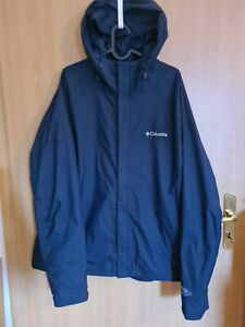 Columbia Sportswear leichte wasserfeste, atmungsaktive Regenjacke dunkelblau XL