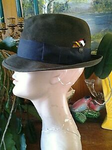 Vintage 1950's STETSON FEDORA did not see much if any wear sz 6 7/8