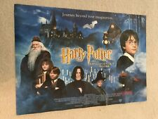 """**HARRY POTTER AND THE PHILOSOPHERS STONE UK PROMOTIONAL POSTER SIZE 23""""x""""16**"""