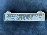 WW2 Hamilton Auxiliary Police Cast Alloy Sign ARP Blitz Home Front Civil Defence