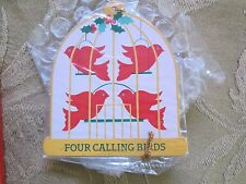 "AVON*THE TWELVE DAYS OF CHRISTMAS ORNAMENTS FOUR CALLING BIRDS* ""NIB"" OLD STOCK"
