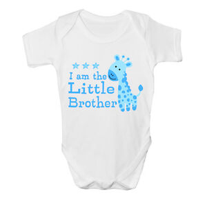 I am the Little brother Baby Vest cute grow Funny bodysuit New Gift Boys Design