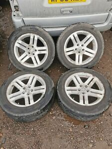 SET OF 4 Chrysler 300C Alloy Wheels 18 INCH  With Tyres 225 60 R18 100H 6 MM TRE