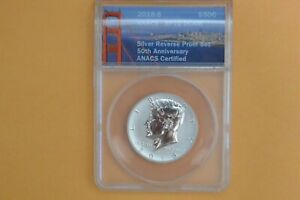 2018 S Kennedy Half Silver Reverse Proof ANACS RP70 DCAM
