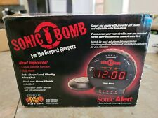 Sonic Bomb SBB500ss Extra Loud Alarm Clock Vibrating Bed Shaker Sonic Alert New
