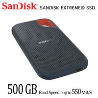 SanDisk Extreme 500GB Portable SSD External SSD SDSSDE60 with full Tracking#