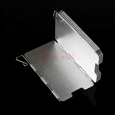 Aluminum BBQ Cookout Stove Wind Shield Screen 9 Plates Foldable Outgoing