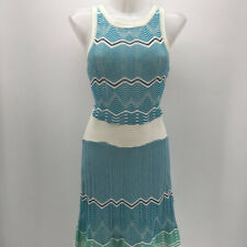 Missoni Blue & White Knit Sleeveless Dress Size 46/10