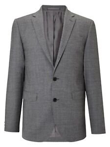 John Lewis Super 100s Wool Tailored Travel Suit Jacket Grey 40S New BNWT
