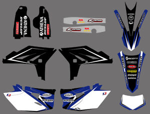 Team Graphics & Backgrounds Decals Kits For Yamaha WRF450 WR450F 2012 2013 2014