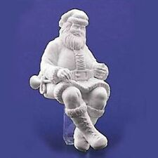 MANTELPIECE SANTA #78549 WINTER SILHOUETTE RETIRED DEPT 56 WHITE PORCELAIN