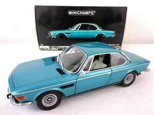 Minichamps 1972 BMW 3.0 CSI Metallic Green 1/18 Scale Die-cast Car Very Rare