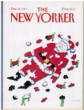 NEW YORKER DECEMBER 28, 1987. COVER LONNI SUE JOHNSON + GARRISON KEILLOR BUG ART