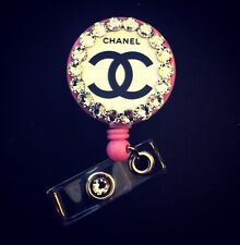 New- Fashion/Name Brand Design-Retractable Badge Reel/ID Holder-Name Tag W/Bling