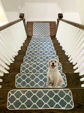 Modern, Printed Design Vibrant and Soft Stair Treads Rugs Mat Carpets for Stairs