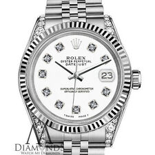 Ladies Rolex 26mm Datejust White Color Dial with Diamonds Watch