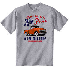 VINTAGE American Car Chevrolet Pick Up-Nuovo T-shirt di cotone