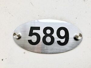 House Number Plaque Engraved Acrylic Sign Door Plate Various colours and Shapes