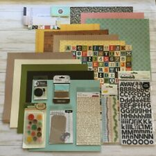 Studio Calico Collection Lot 13 Sheets Paper Embellishments Buttons Sticker LOVE