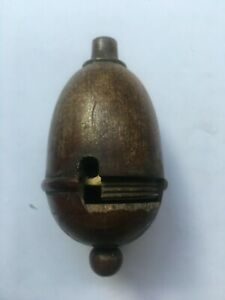 Antique Pendant Light Switch Wood/Brass/Bakelite Damaged spares only