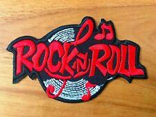 New Rock n Roll biker retro slogan rockabilly music applique iron on patch