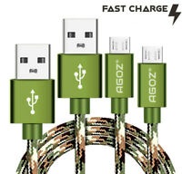 Agoz Camo Braided 4,6,10ft USB-C Fast Charger Type C Data