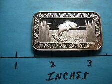 Bass Fish Fishing 1974 Vintage World Wide Mint 999 Silver Bar Rare Type Reverse