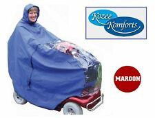 Mobility Scooter Rain Cape Outdoor Poncho Cover Kozee Komforts Pavement Scooter