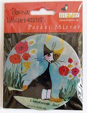 Pocket Mirror Rosina Wachtmeister Cat Design My Garden