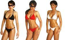 Maillot de bain bikini brésilien tanga mini micro string sexy blanc rouge noir