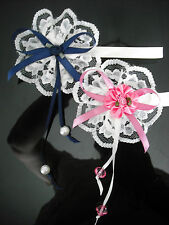 Magnetic Dolls Pram -Corsage-Decoration in Pink,Navy,Lemon & Peach