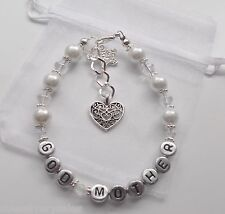 God Mother present Thank you Bracelet birthday gift Personalised