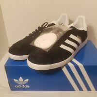 New Adidas Gazelle Art BB5476 Men's Black/White Suede Athletic Size 10