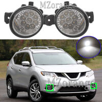 LED Front Fog Light Lamp For Nissan Altima Dualis Pulsar Maxima Micra Pathfinder