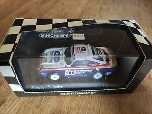 MINICHAMPS - 1/43 - PORSCHE 956 n° 185 - Rallye Paris-Dakar 1985