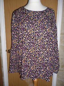 George Asda Women's Purple Floral Top size 20