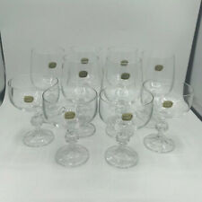 Bohemia Crystal Claudia Goblet (6) & Champagne Saucer (4) Set - 10 Czech Crystal