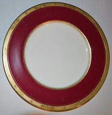 """Antique Royal Worcester 40 Piece Bone China from England """" Diana"""" Red and Gold"""