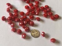 10 Red Shank Buttons 12mm L0067 AUSSIE SELLER