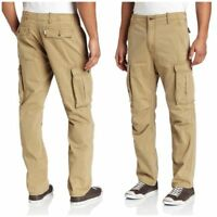 NWT MENS LEVIS CARGO I RELAXED FIT PANTS MSRP $64 British Khaki 12462-0010