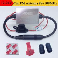 Car Radio Signal Amplifier Metal Antenna FM Booster 88~108MHz with Accesssories