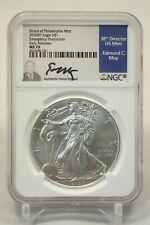 2020 (P) $1 American Silver Eagle NGC MS70 Emergency Production Moy signed 196
